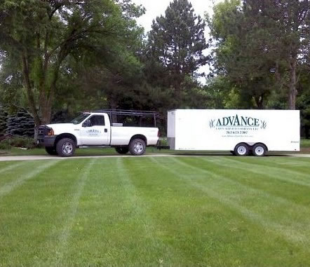 Advance Lawn Service Truck and Trailer