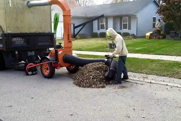 Fall Clean Up - Leaf Hauling by Advance Lawn Services in Hartford WI