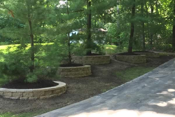 Retaining Wall - walls around trees from Advance Lawn Service Company - Hartford WI