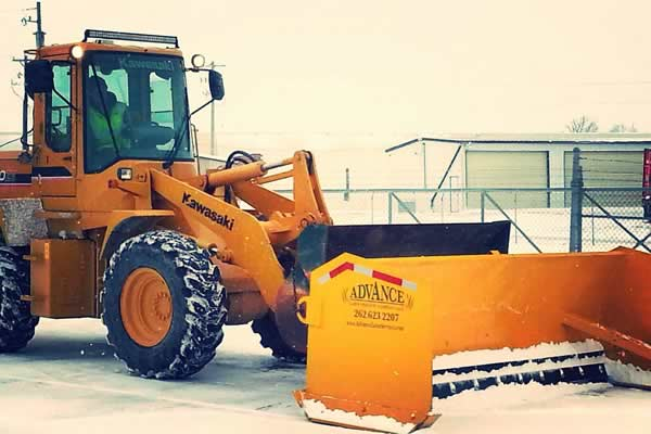 Snow Plowing Services by Advance Lawn Services Company in Hartford WI