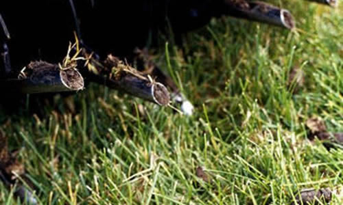Lawn Aeration by Advance Lawn Services in Hartford WI