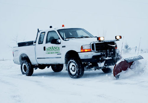 Residential Snow Plowing by Advance Lawn Services in Hartford WI