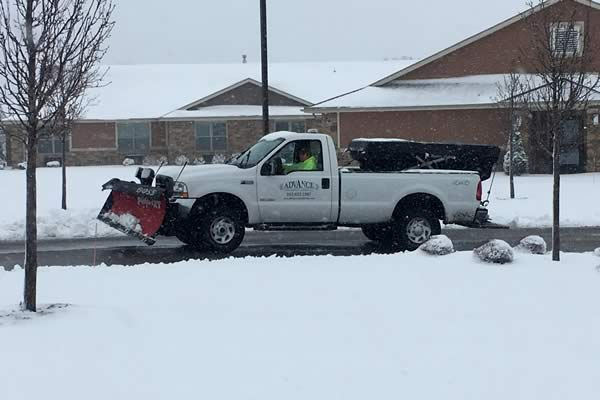 Salt and Ice Service by Advance Lawn Service Company, Hartford WI