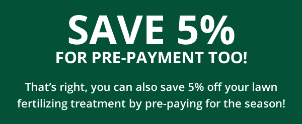 Save 5% for pre-payment graphic