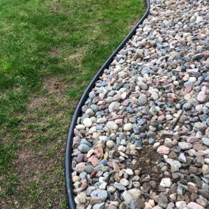 Black Tube Garden Edging