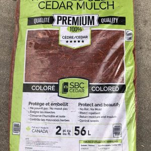 Bag of Red Cedar Mulch